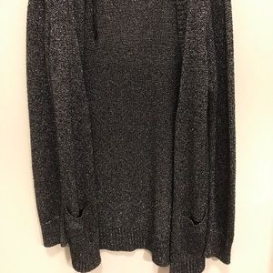 Black and silver knit sweater